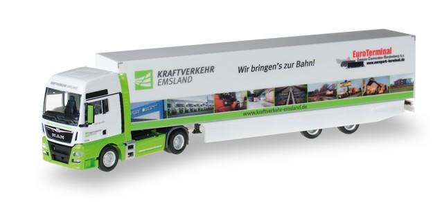 "Herpa  MAN TGX XXL Koffer-Sattelzug ""Kraftverkehr Emsland"""