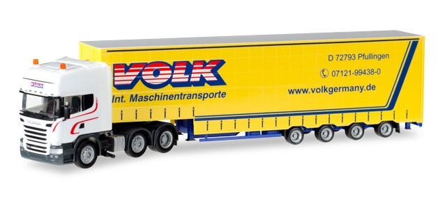"""Herpa Scania TL Volumen-Sattelzug """"Volk"""" -Einzelstück-"""