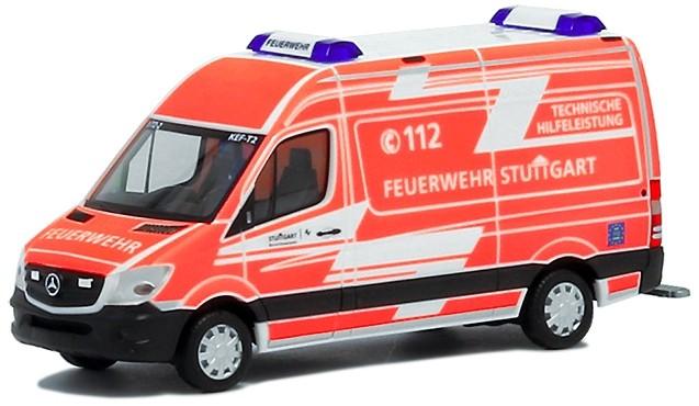 Herpa MB Sprinter 2013 KEF-T Feuerwehr Stuttgart  (Sonderedition Ba.-Wü.)