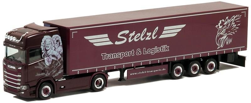 Herpa Scania CS HD Sattelzug Stelzl Transport & Logistik