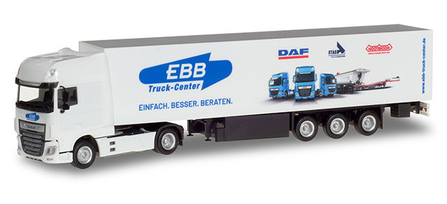 "Herpa DAF XF SSC Koffer-Sattelzug ""EBB Truck"""