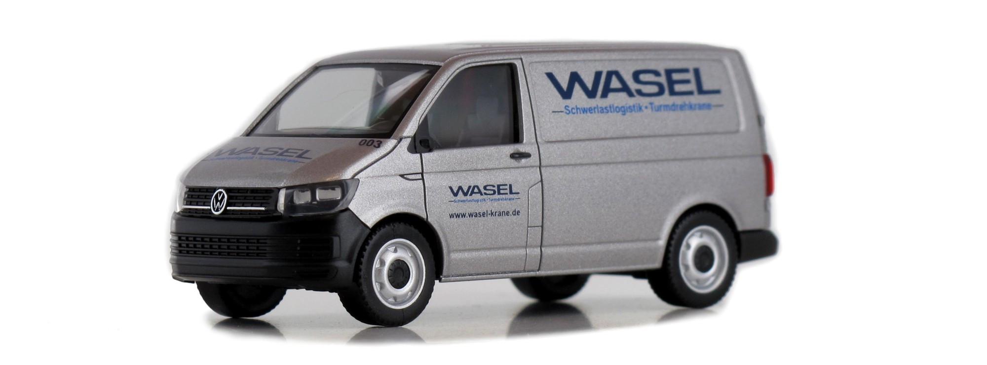 Herpa VW T6 Wasel Schwertransportlogistik in silber ( Sondermodell )