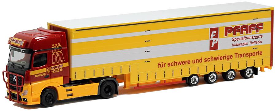 Herpa MB Actros Gigaspace Pfaff Spezialtransporte (Norddeutschland-Modell )