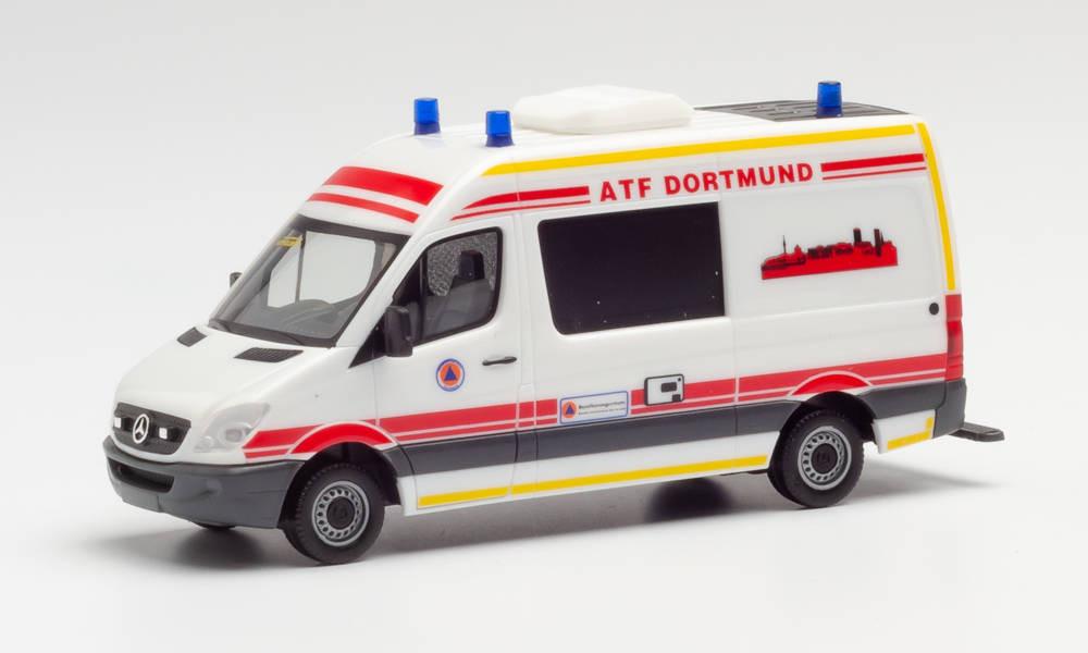"""Herpa Mercedes-Benz Sprinter HD """"Feuerwehr Dortmund / ATF""""(Sondermodell Intermodellbau 2020)"""