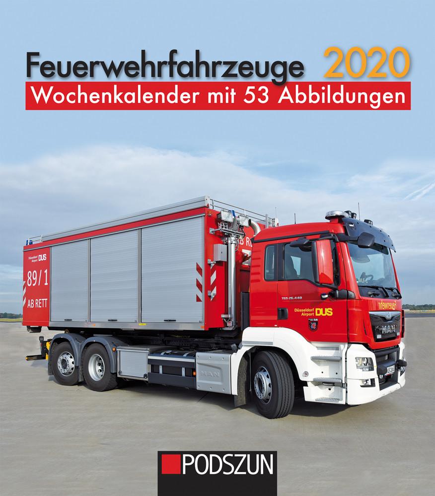 Podszun-Verlag Feuerwehrfahrzeuge 2020 Wochenkalender Vorbestellung / Artikel ist noch nicht lieferbar !!