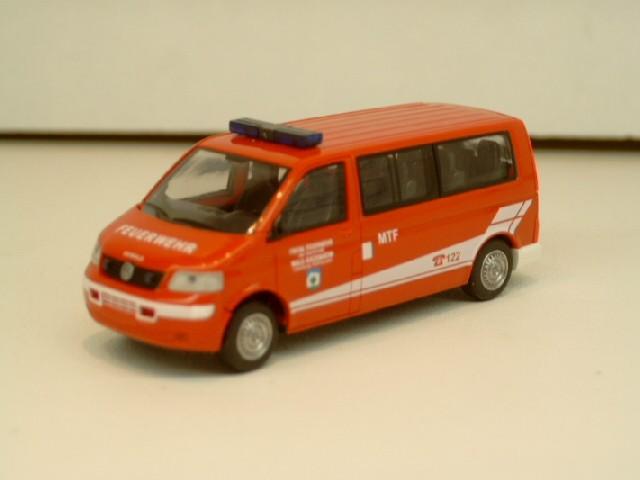 Rietze VW T5 LR Bus MTF Feuerwehr Wals (A)