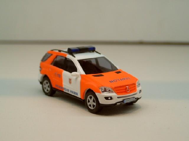 Busch MB ML Klasse Bj 2005 NEF Feuerwehr Hamm HAM 6205
