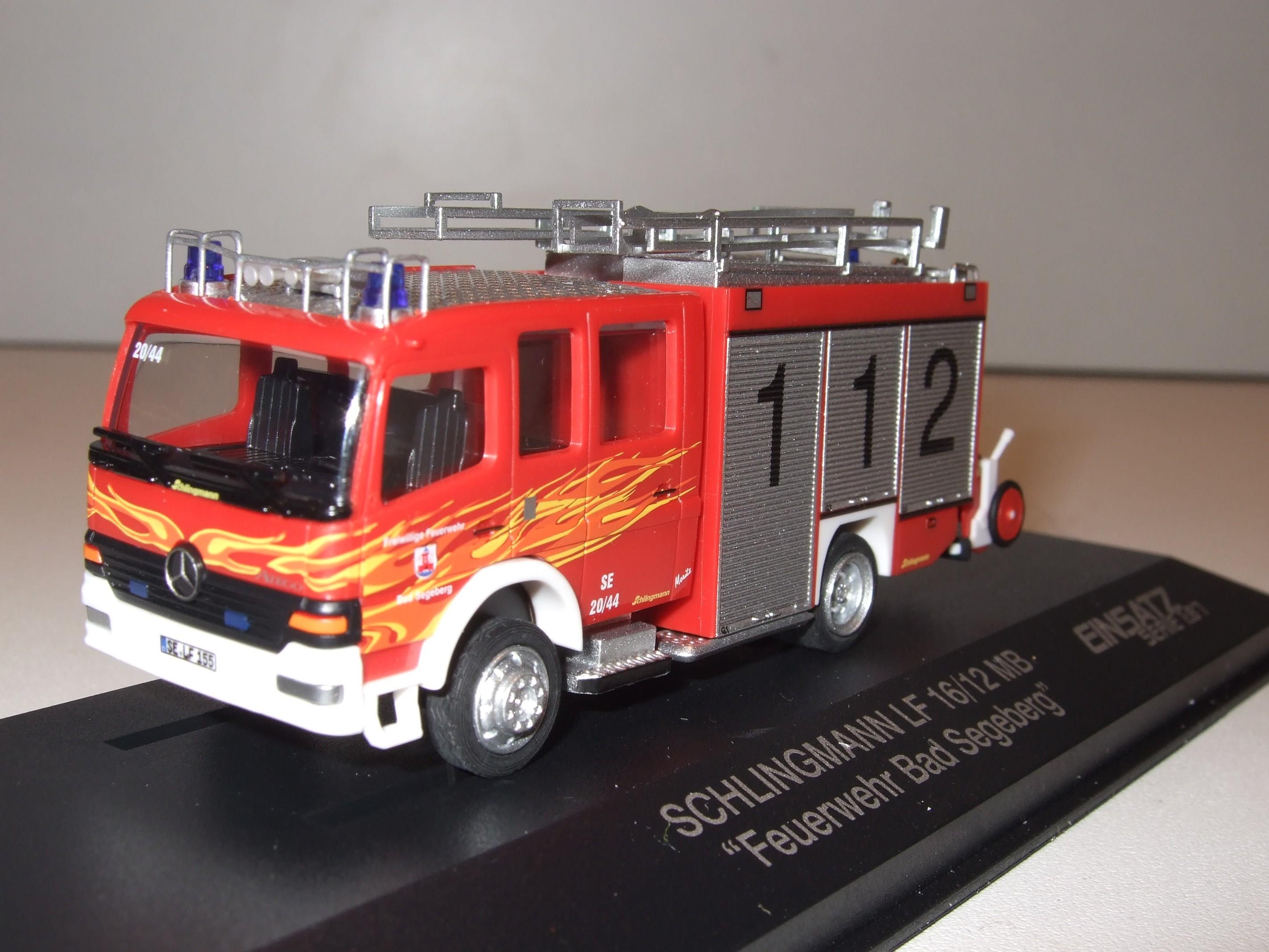 Rietze Einsatz-Serie MB Atego LF 16/12 Feuerwehr Bad Segeberg