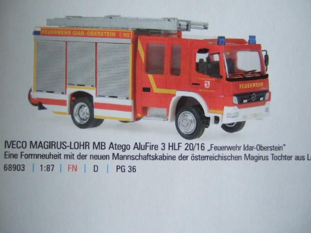 Rietze MB Atego 04 Magirus / Lohr HLF 20/16 FF Idar-Oberstein