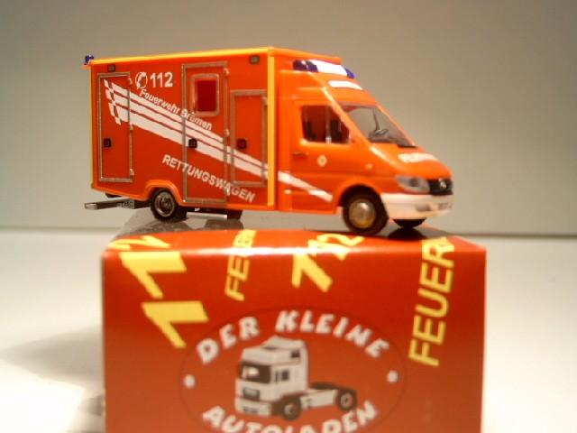 Rietze MB Sprinter RTW BF Bremen