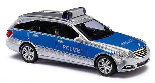 Busch MB E-Klasse T-Modell Polizei in blau / silber -Einzelstück-