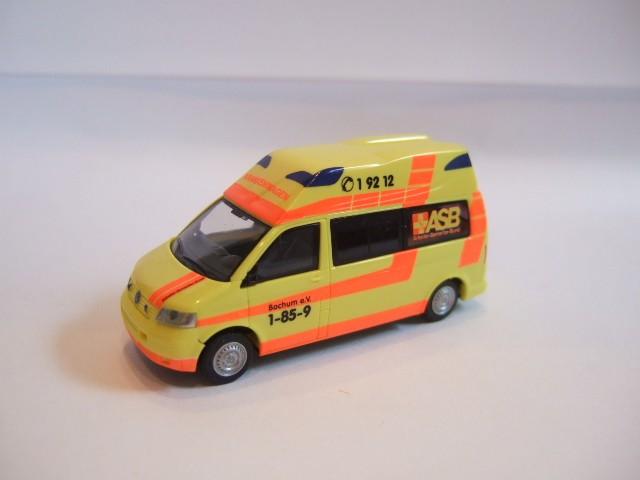 Rietze VW T5 LR HD KTW ASB Bochum -Einzelstück-