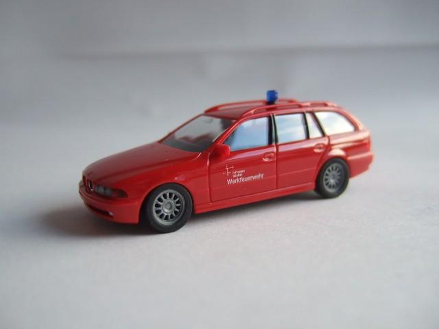 Herpa BMW 5er Touring Werkfeuerwehr InfraServ Höchst