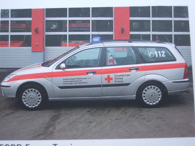 Rietze Ford Focus T DRK KV Weisswasser -Einzelstück-