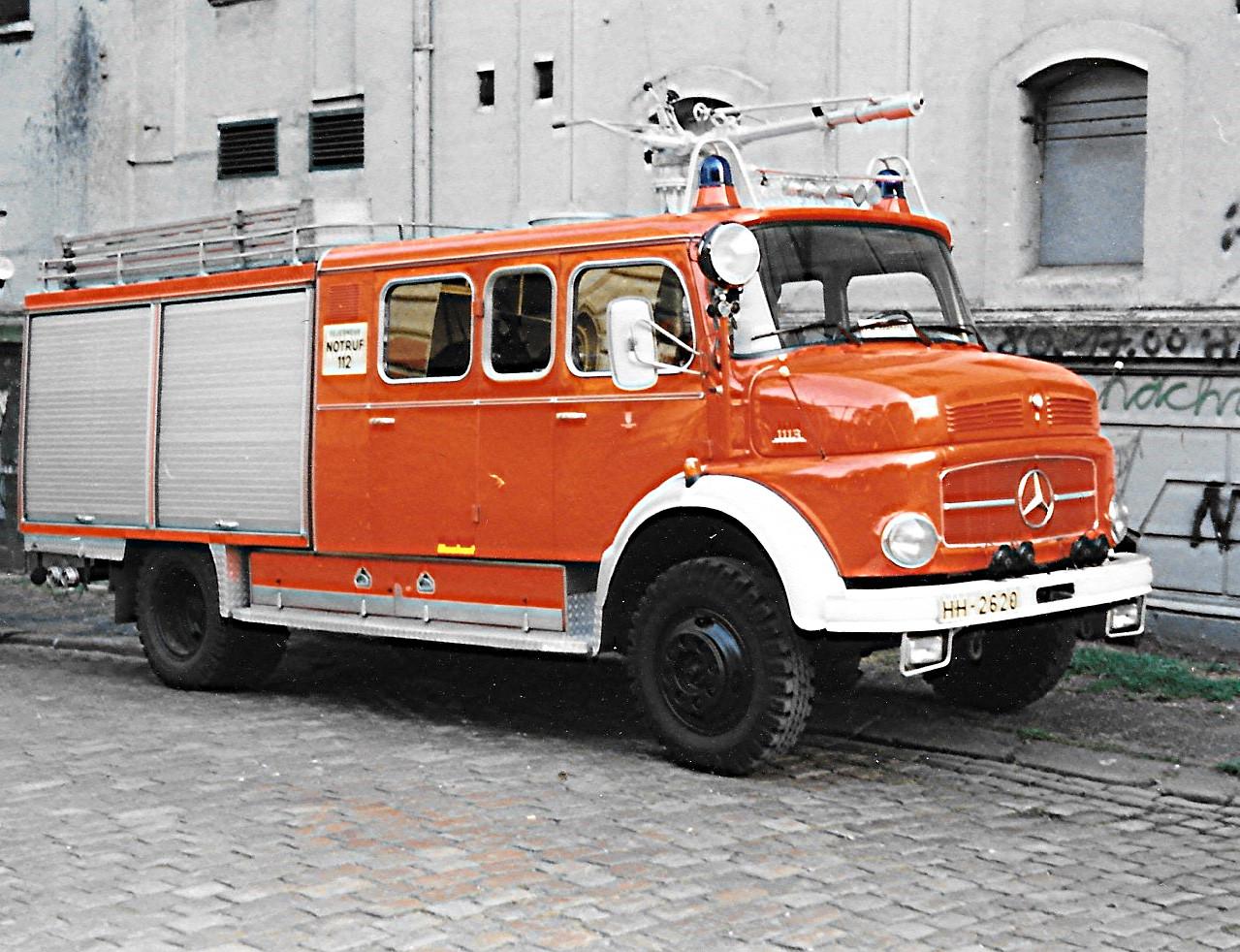 Brekina MB LAF 1113 TLF 16/25 Feuerwehr Hamburg Rotherbaum (BF),