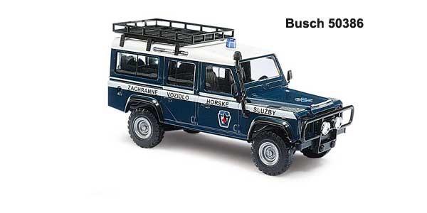 Busch Landrover Defender Sammelserie Nr. 7 Bergrettung Tschechien