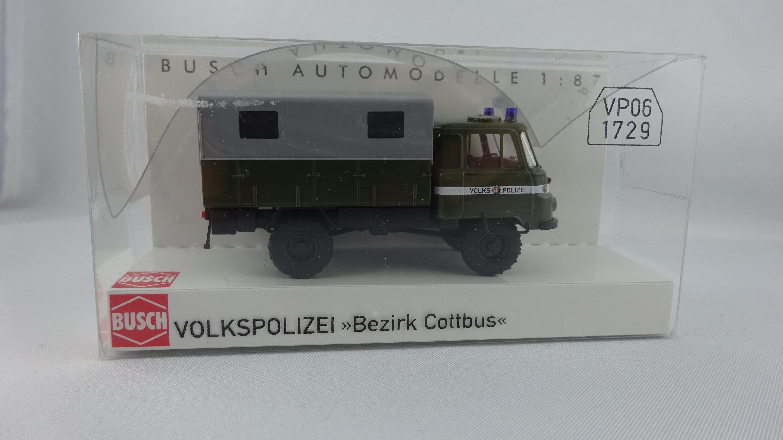 Busch Robur LO 2002 A. Volkspolizei Bezirk Cottbus (Einzelstück)