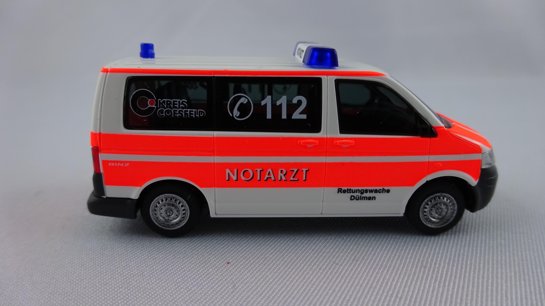 Rietze VW T5 KR NEF Kreis Coesfeld / Wache Feuerwehr Dülmen
