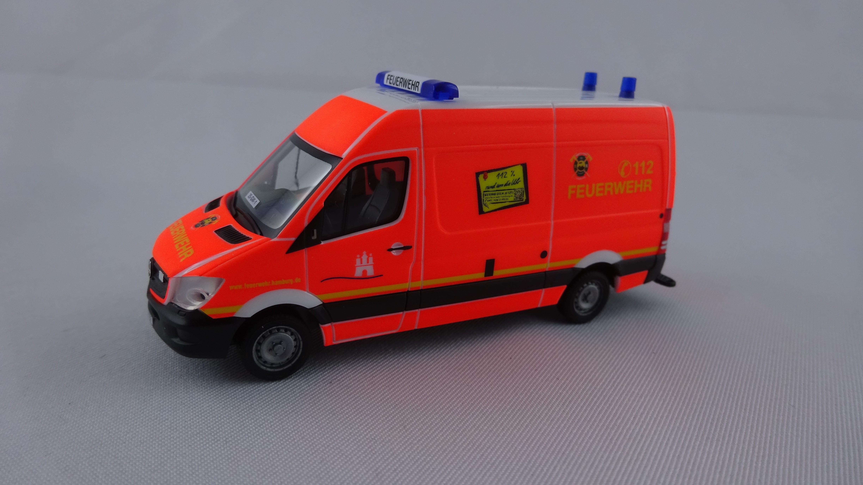 Herpa MB Sprinter 13 GW 1 Feuerwehr Hamburg Finkenwerder ( BF ), Sondermodell