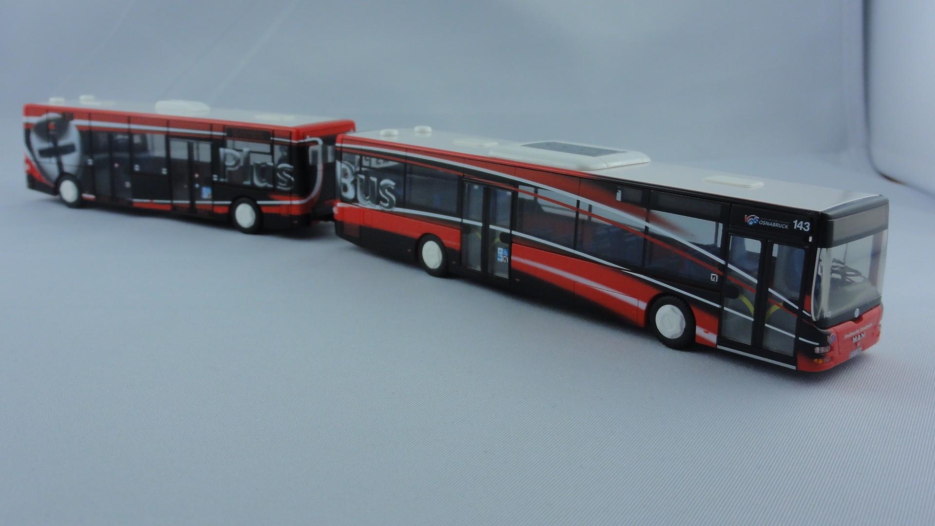 Rietze MAN / Göppel Maxitrain  Plus-Bus VOS Osnabrück Ziel Hochschulen Westerberg