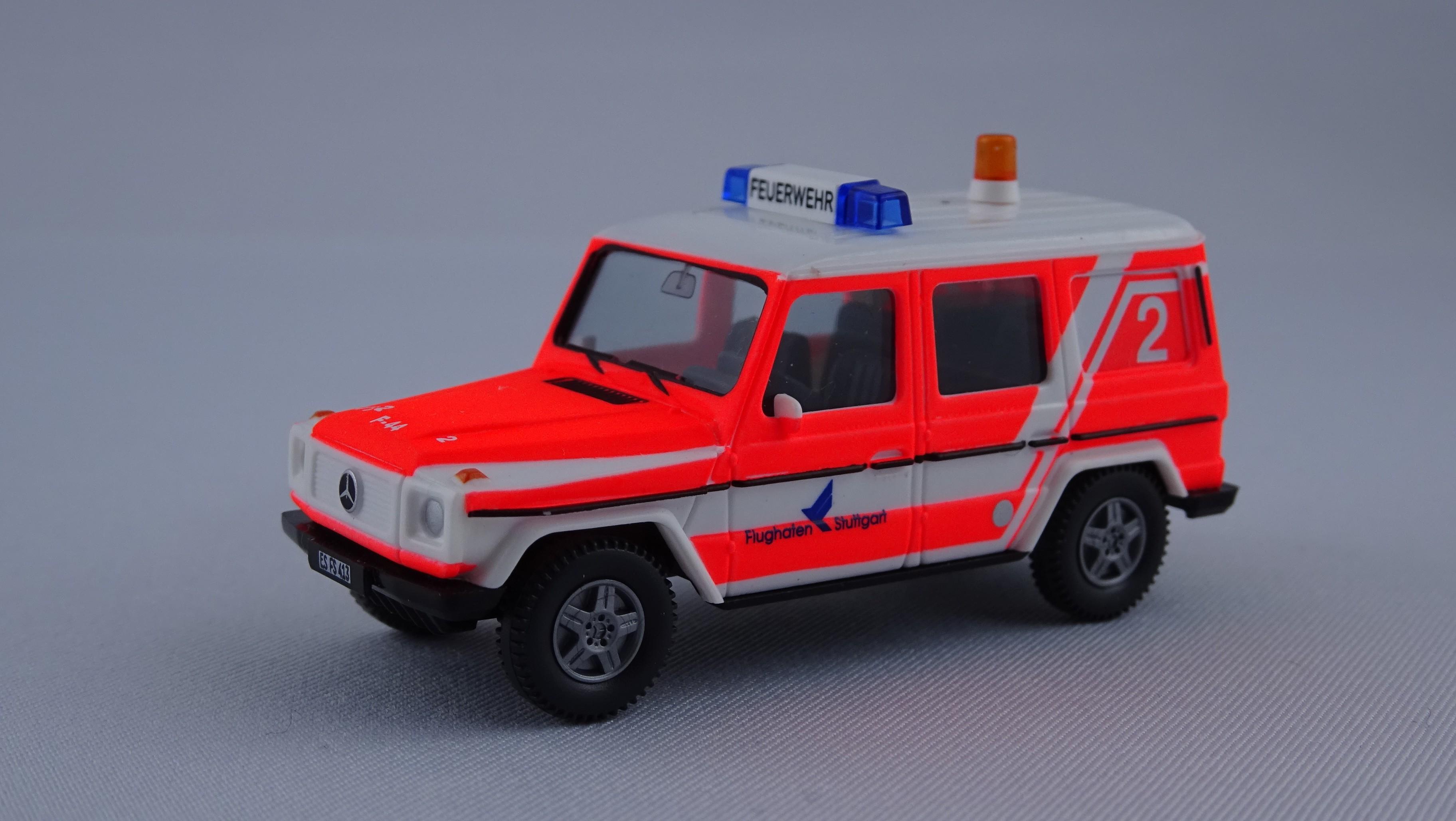 Wiking MB G-Modell ELW Flughafenfeuerwehr Stuttgart -Einzelstück-