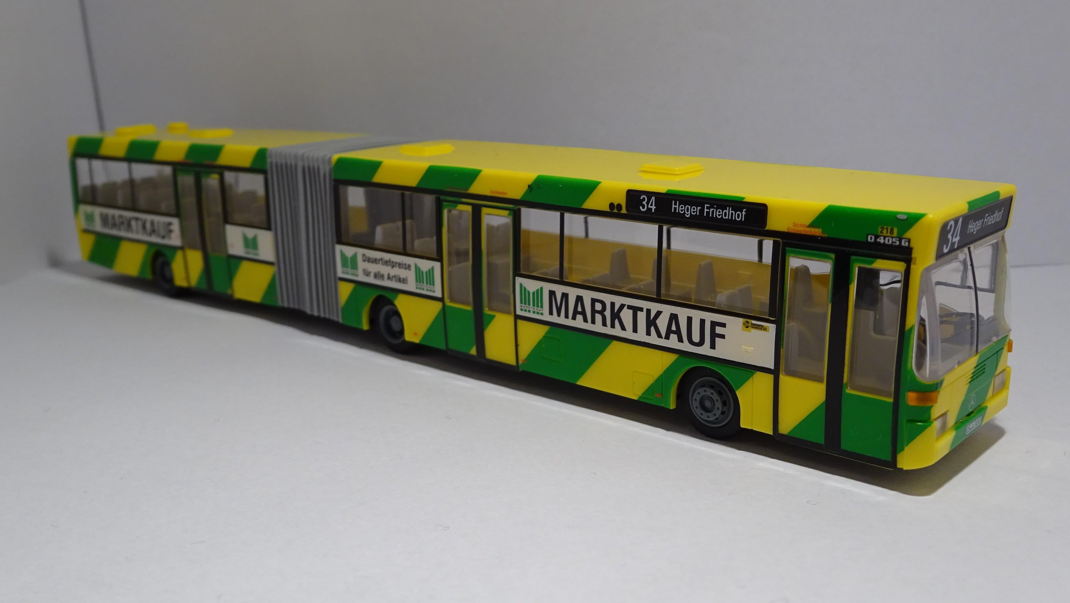 Rietze MB O 405 G Stadtwerke Osnabrück mit Marktkauf-Werbung Version 2