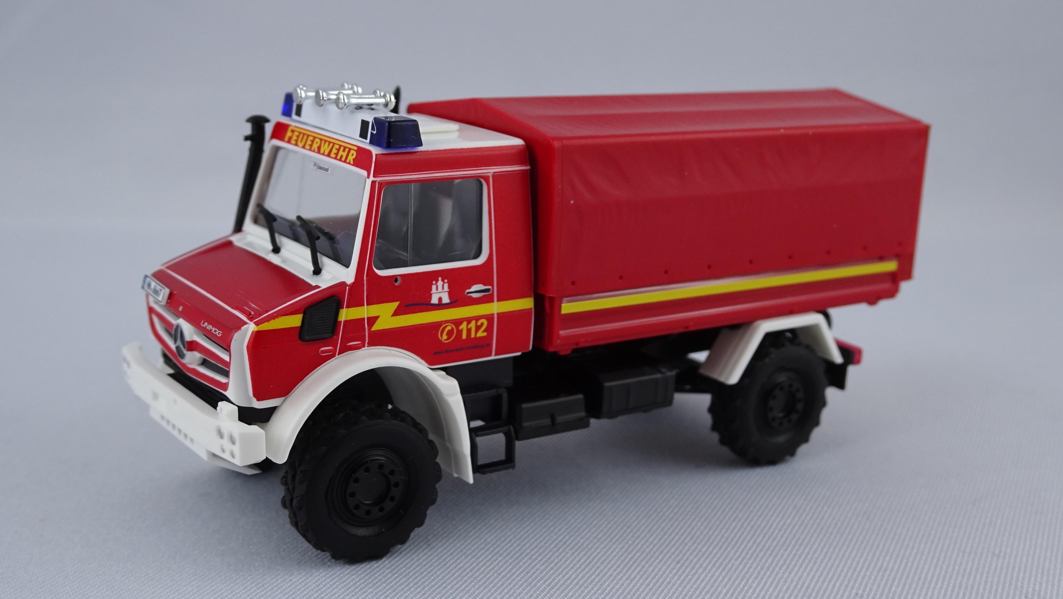 Busch MB Unimog U 5000 GW-Rüst Feuerwehr Hamburg Marmsdorf -Einzelstück-