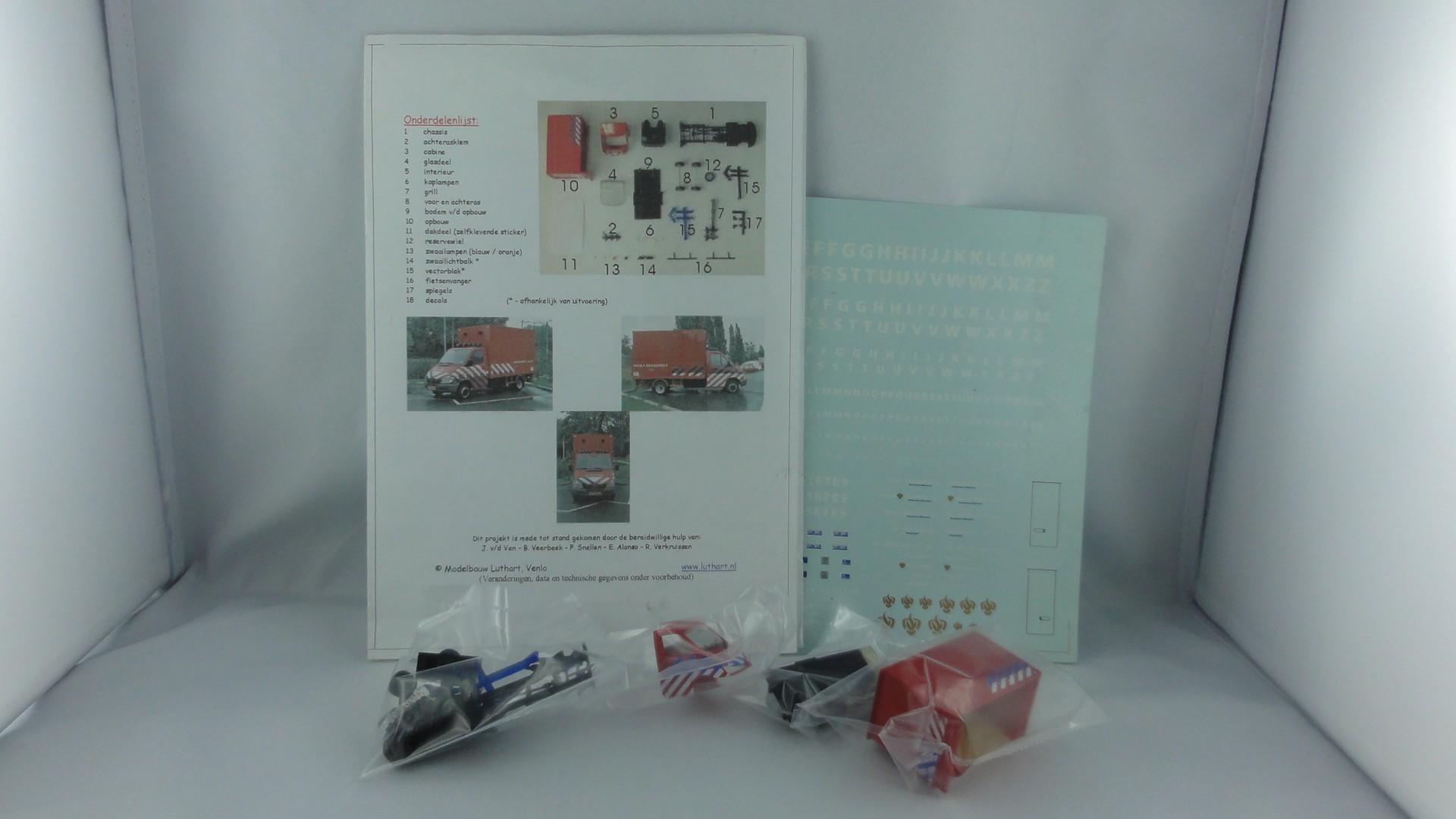 Kleinserie Bausatz MB Sprinter Brandweer -Einzelstück-