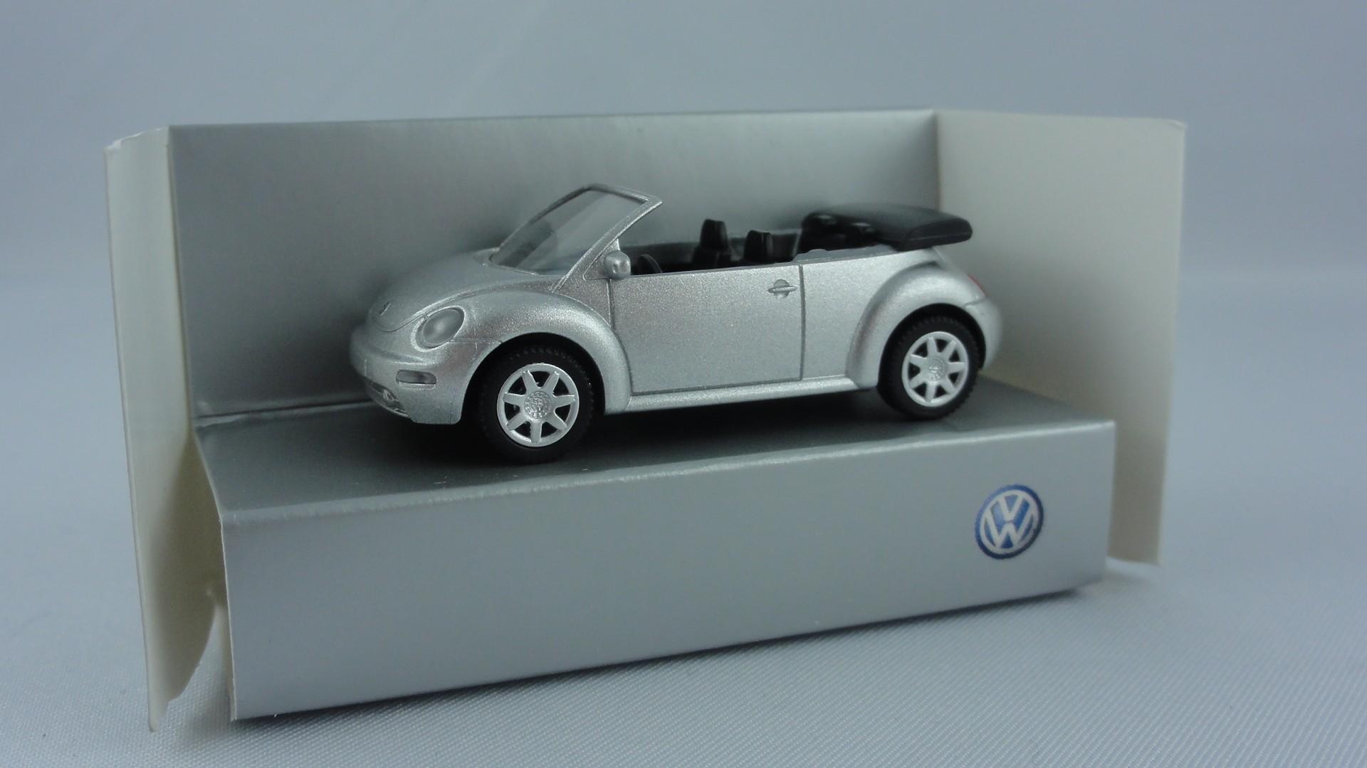 Wiking VW New Beetle Cabriolet, silber-metallic -Einzelstück-