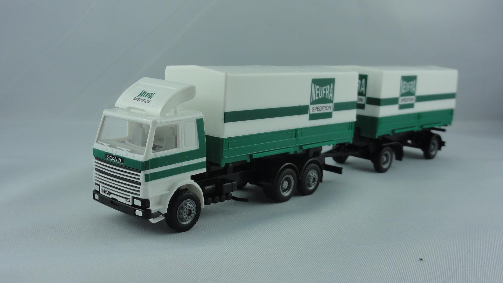 Herpa Scania Planenhängerzug NEUFRA Spedtion -Einzelstück