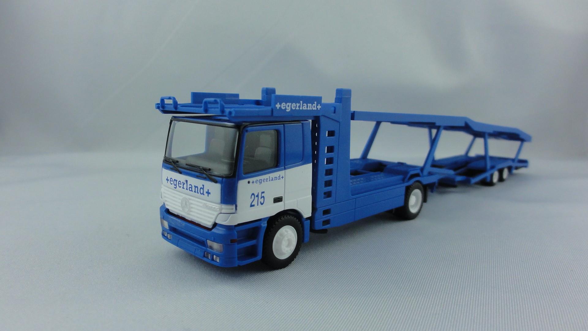 Herpa MB Actros Autotransporter Egerland, Osnabrück -Wagen Nr. 215- Sondermodell/Einzelstück