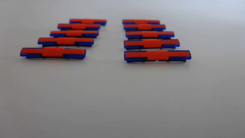 Herpa Techno-Design Blaulichtbalken für LKW in RAL 3024 ( 10 Stück im Set )