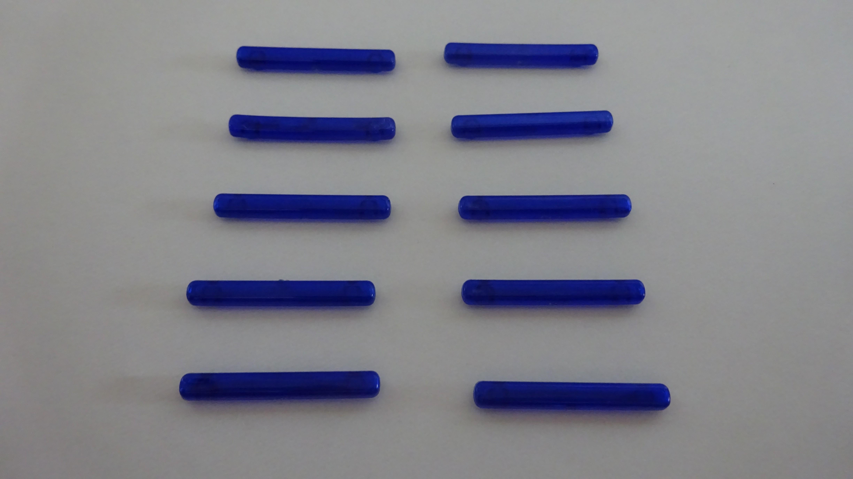 Rietze LKW Blaulichtbalken transparent blau ( 10 Stück im Set )
