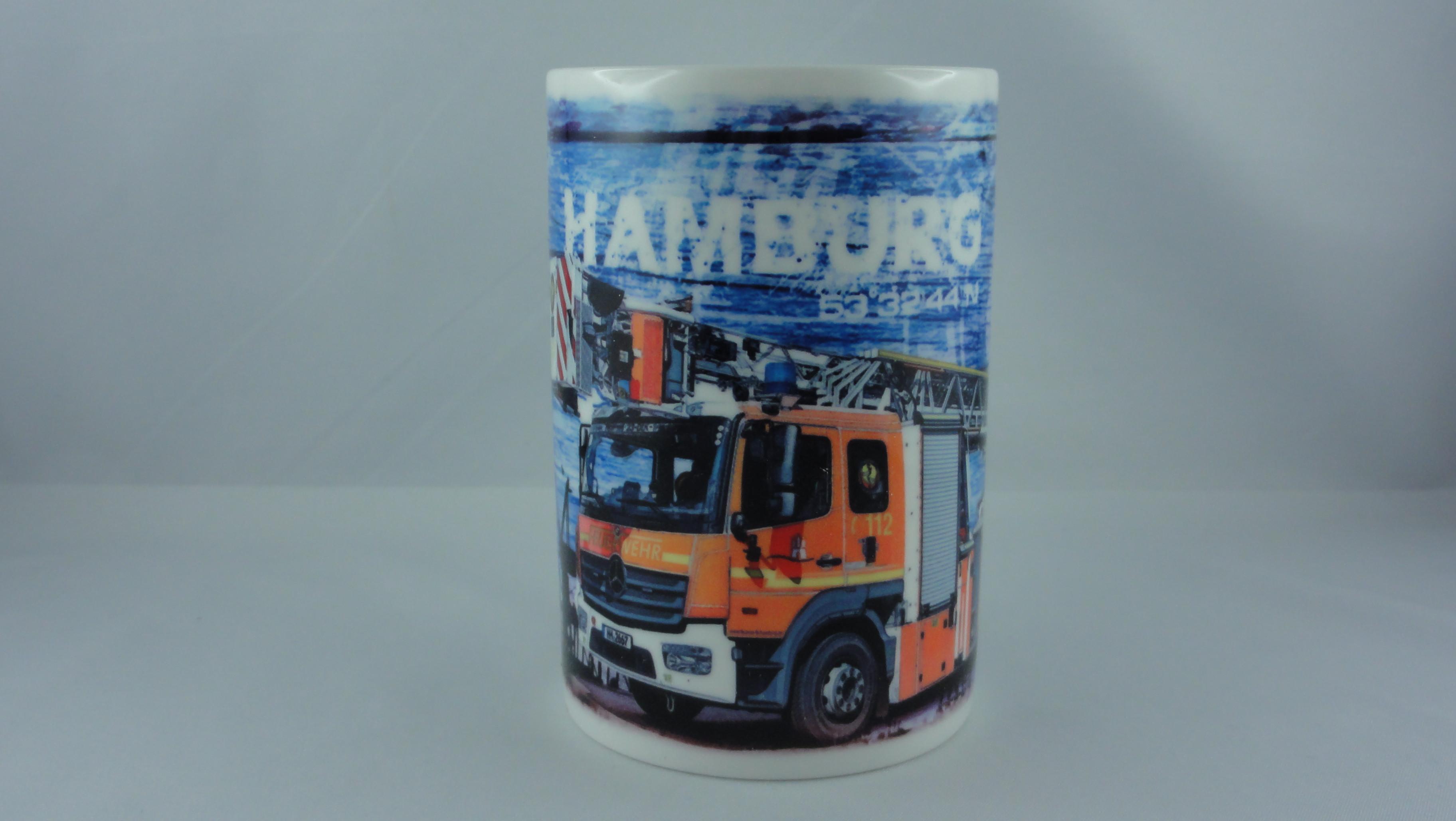 Sammelbecher Motiv DLK L32 BF Hamburg Barmbek, Copyright /Design exclusiv by günterblockfotografie