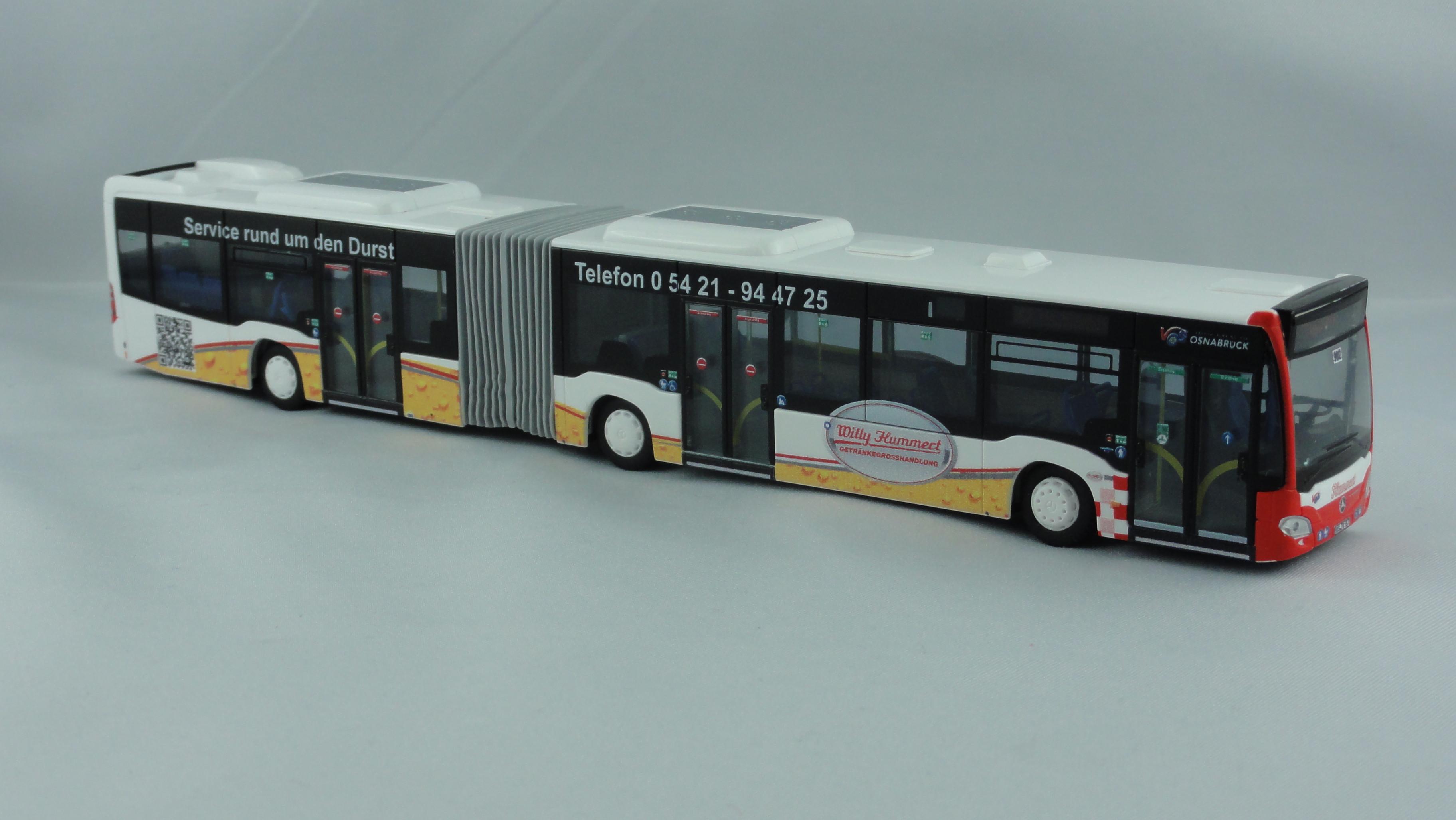 Rietze MB Citaro G15 Hybrid VOS Osnabrück / Willy Hummert mit Willy Hummert Getränkegrosshandlung Werbung, Sondermodell
