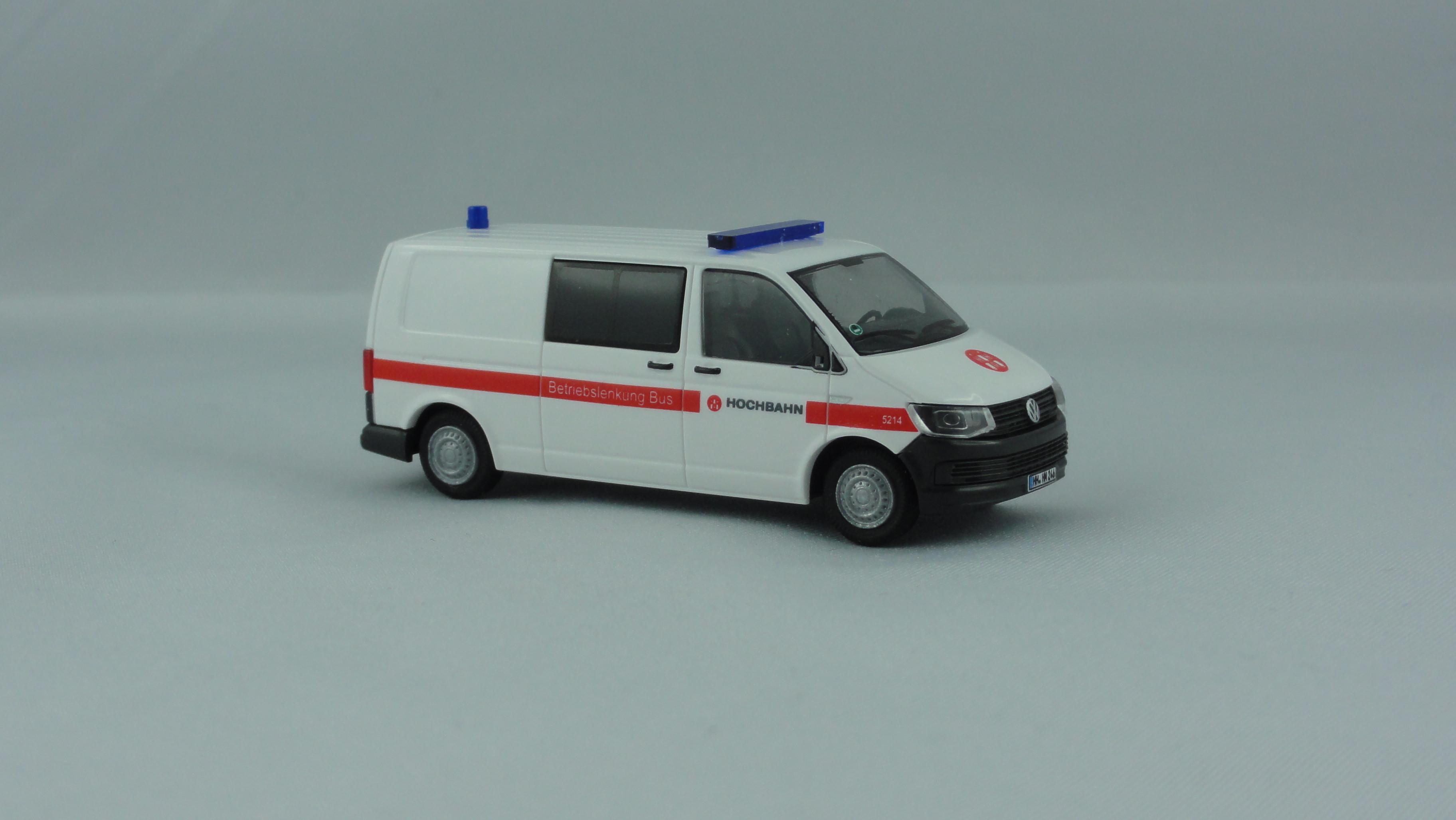 "Rietze VW T6 LR Hamburger Hochbahn "" Betriebslenkung Bus / Unfallhilfsdienst "", Hochbahn Edition No.10 / Sondermodell"