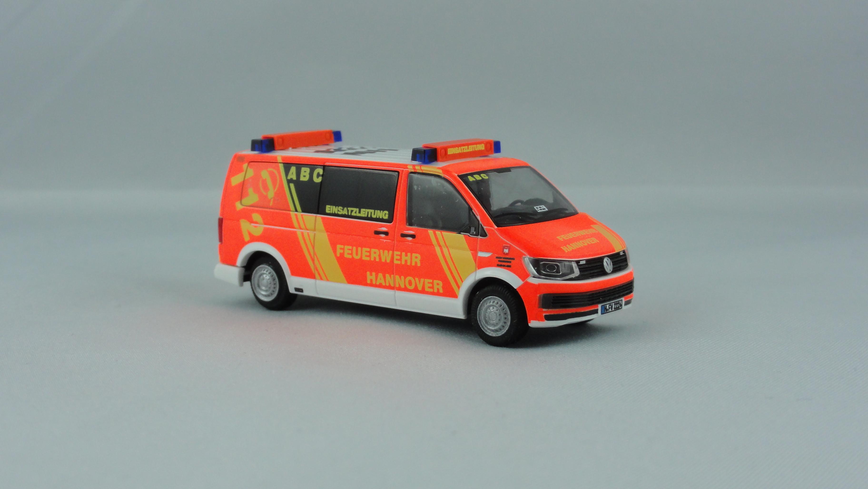 Rietze VW T6 LR  ABC Einsatzleitung  BF Hannover H-FW 2224, Sondermodell