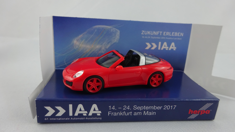 Herpa Porsche 911 Targa 4 R Iaa 2017