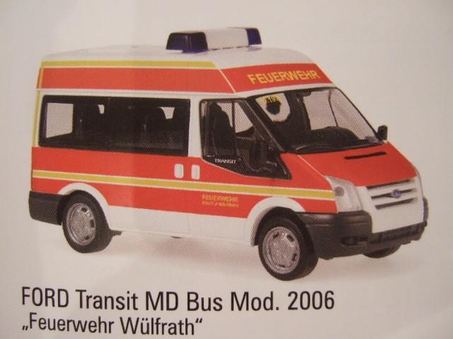 Rietze Ford Transit MD Feuerwehr Wülfrath