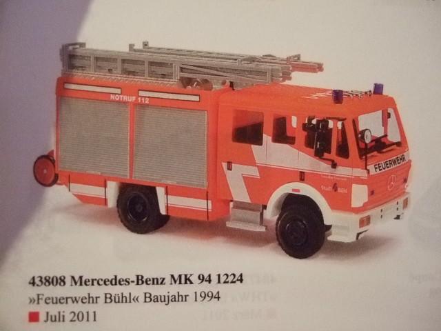 Busch MB MK 94 LF 16/12 Feuerwehr Bühl