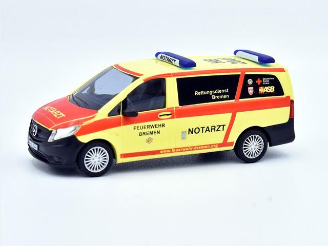 Busch MB Vito NEF Feuerwehr Bremen HB 2046 (Sondermodell)