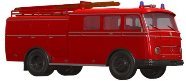 Heico Modell MB LP 311 TLF 16 Bachert / Pullmann -Einzelstück-