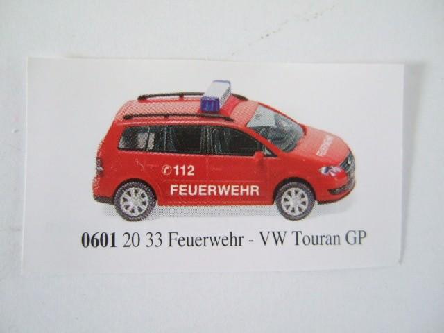 Wiking VW Touran GP Feuerwehr