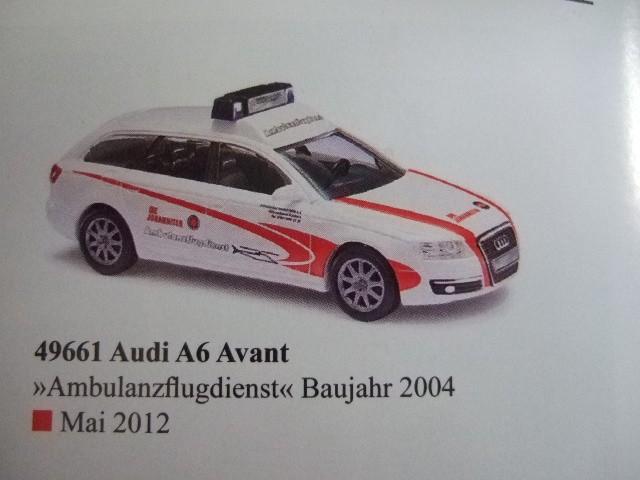 Busch Audi A6 Avant JUH Ambulanzflugdienst