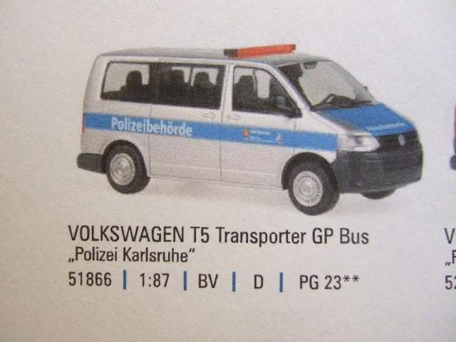 Rietze VW T5 GP Polizei Karlsruhe