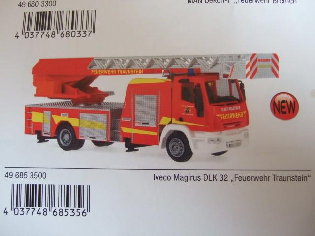 Rietze / Schuco IVECO DLK 32 Feuerwehr Traunstein