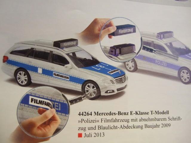 "Busch MB E-Klasse T-Modell Polizei "" Filmfahrzeug"""