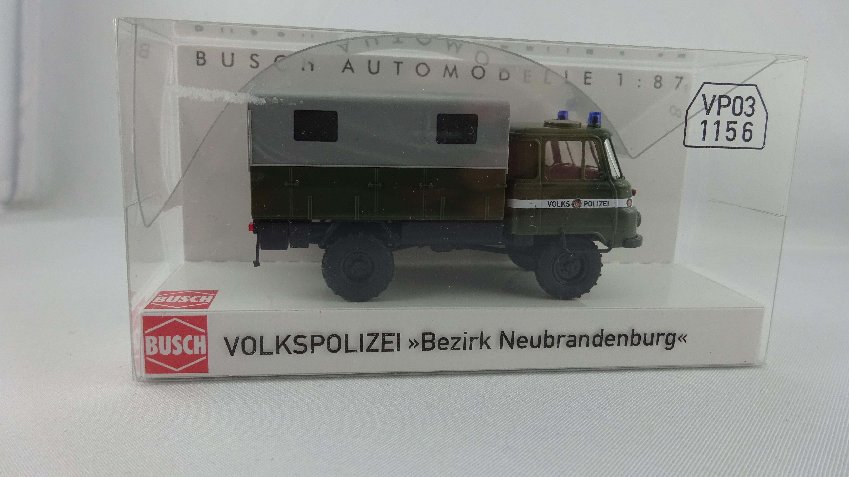 Busch Robur LO 2002 A. Volkspolizei Bezirk Neubrandenburg (Einzelstück)