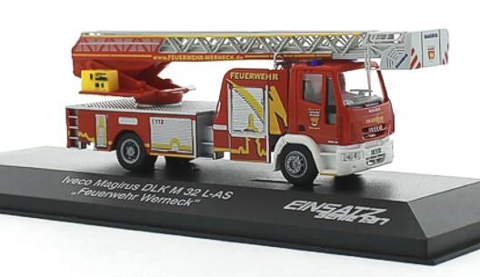 Rietze Einsatz Serie IVECO DLK 32 Feuerwehr Werneck -Einzelstück-