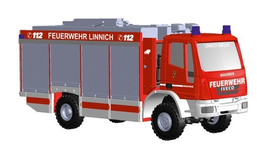Rietze IVECO Alufire3 Rüstwagen Feuerwehr Linnich